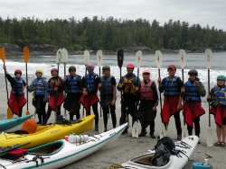 Students Kayaking from the NSOP